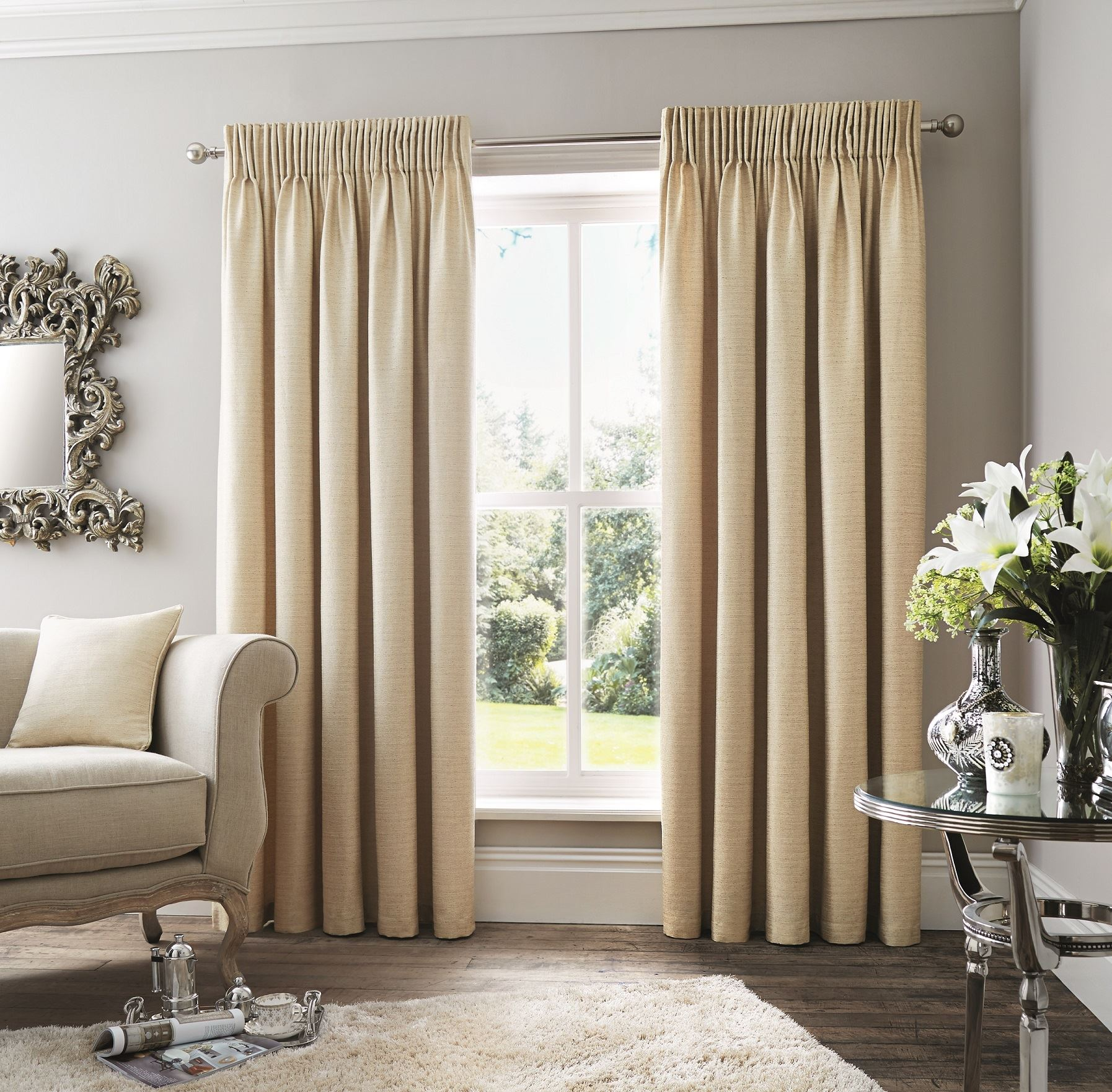 efecto tejido natural beige cortinas plisadas de lapices