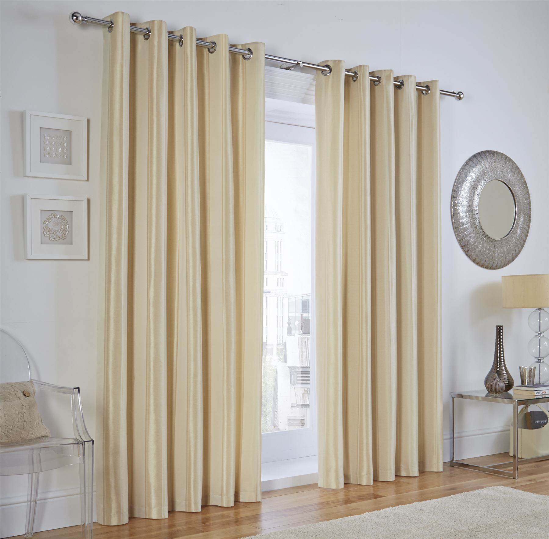 vertical jacquard stripe cream ring top curtains drapes 8. Black Bedroom Furniture Sets. Home Design Ideas