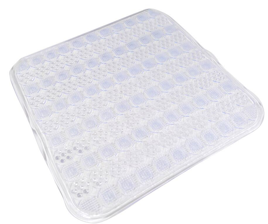 Massage pvc durable easy clean non slip bathroom shower for How to clean bathroom mats