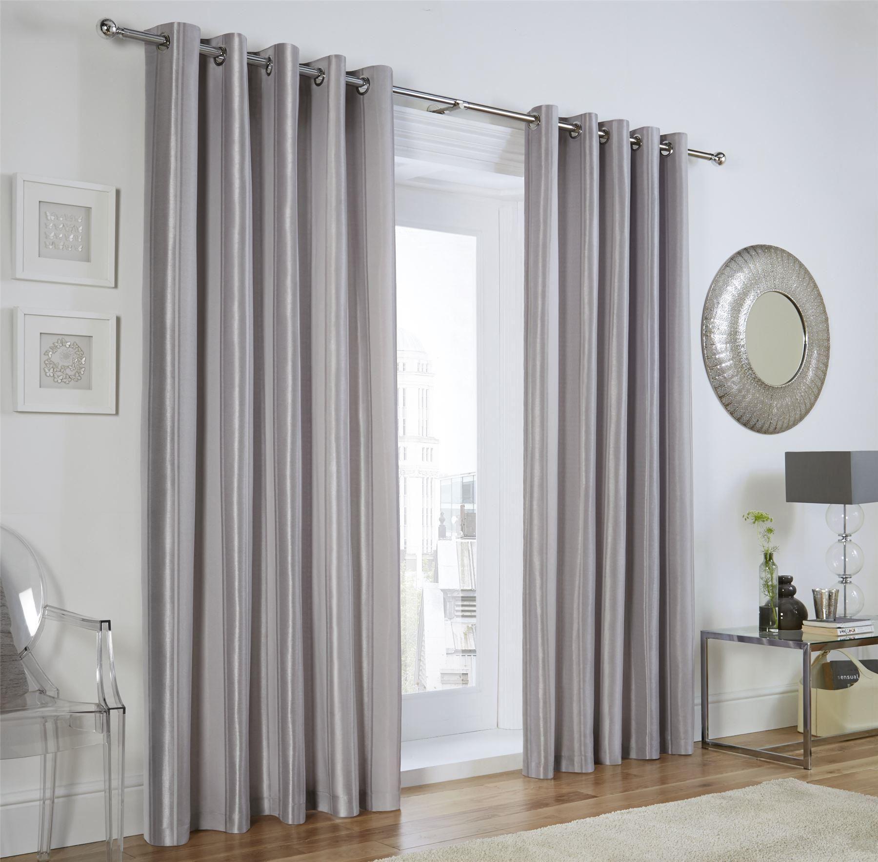 vertical jacquard stripe silver grey ring top curtains. Black Bedroom Furniture Sets. Home Design Ideas