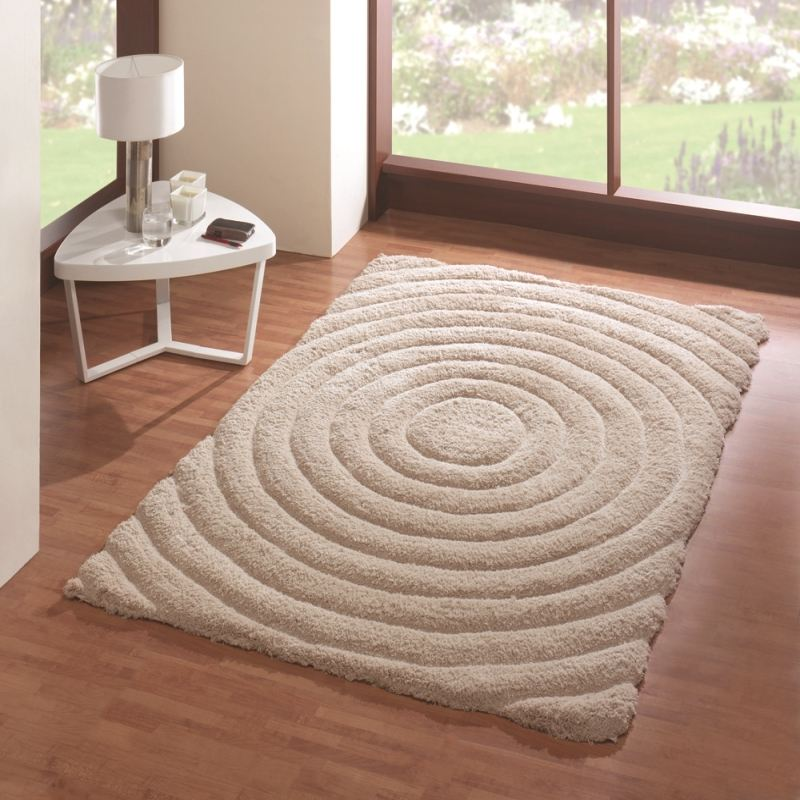 teppich shaggy kreis muster rechteckig hochflor rot gr n beige braun flair rugs ebay. Black Bedroom Furniture Sets. Home Design Ideas
