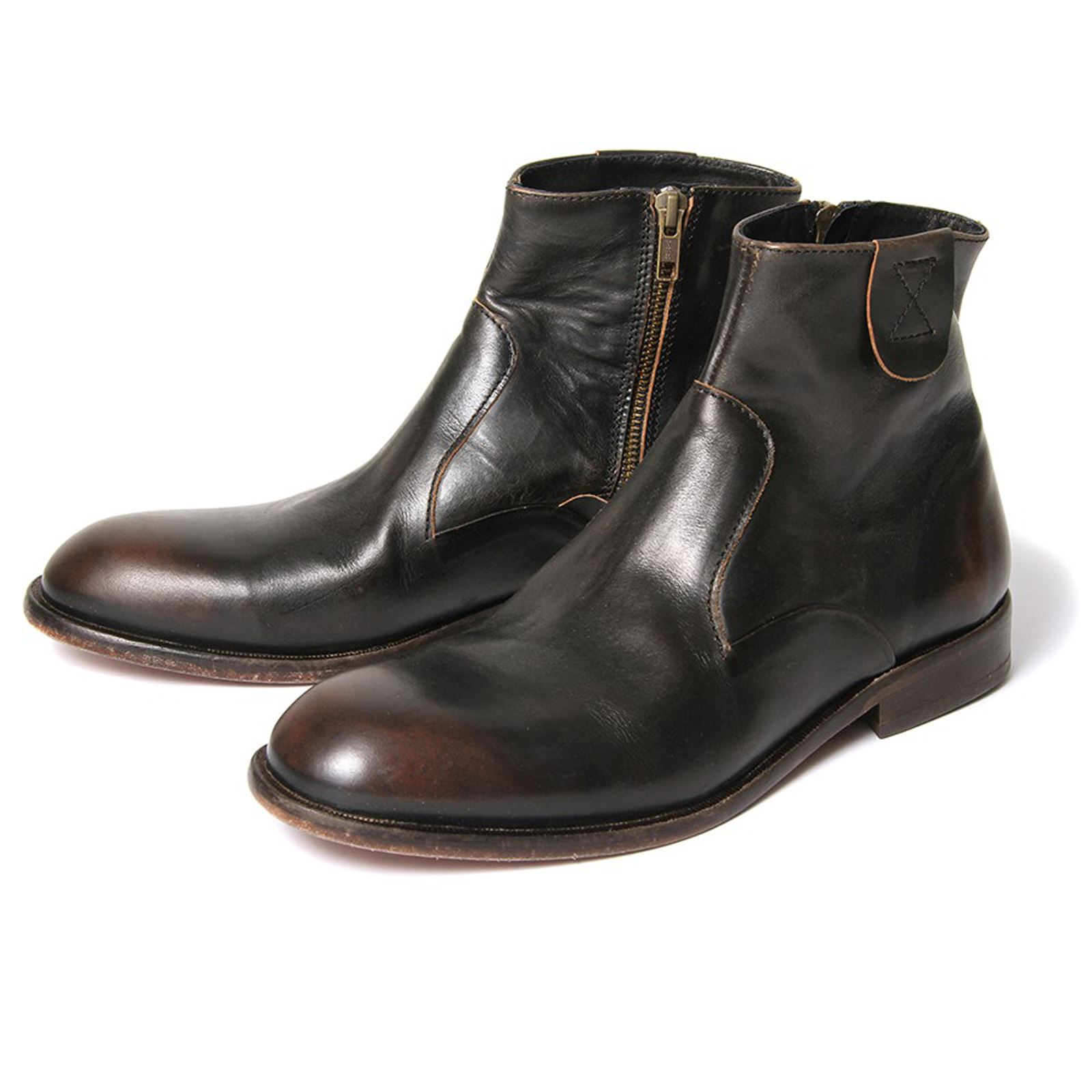 h by hudson boots haxton black leather mens ankle boot ebay