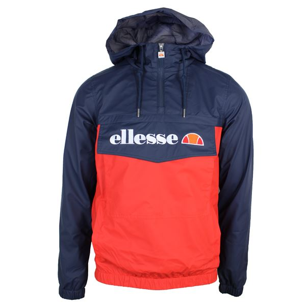 ellesse jacket mont brava mens navy and red hooded lightweight coat ebay. Black Bedroom Furniture Sets. Home Design Ideas