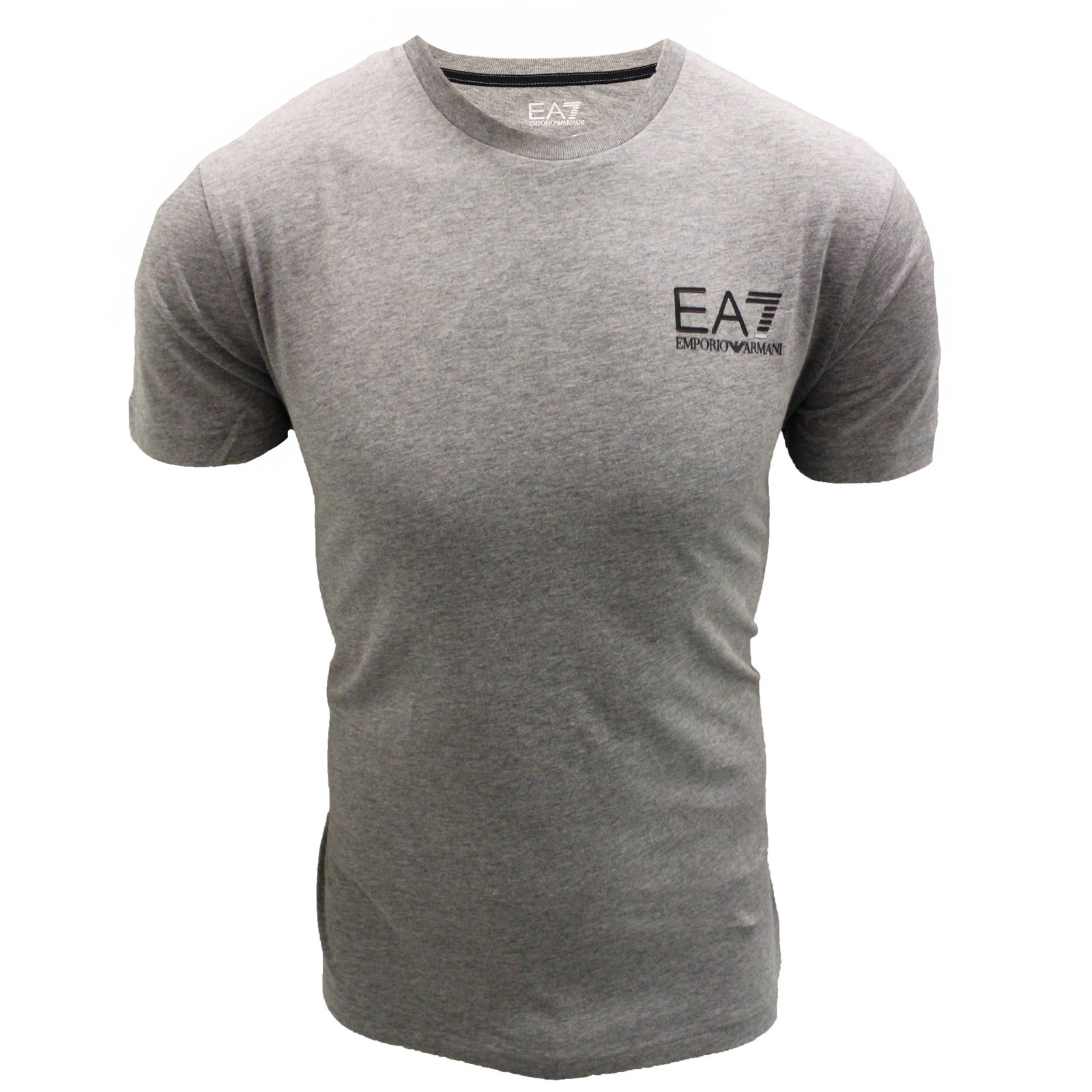 emporio armani t shirt ea7 mens grey crew neck top ebay. Black Bedroom Furniture Sets. Home Design Ideas