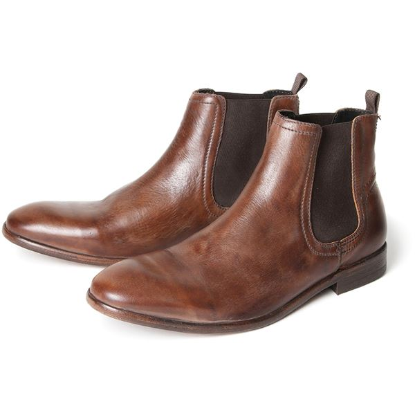 H BY HUDSON BOOTS PATTERSON TAN LEATHER MENS CHELSEA BOOT | eBay