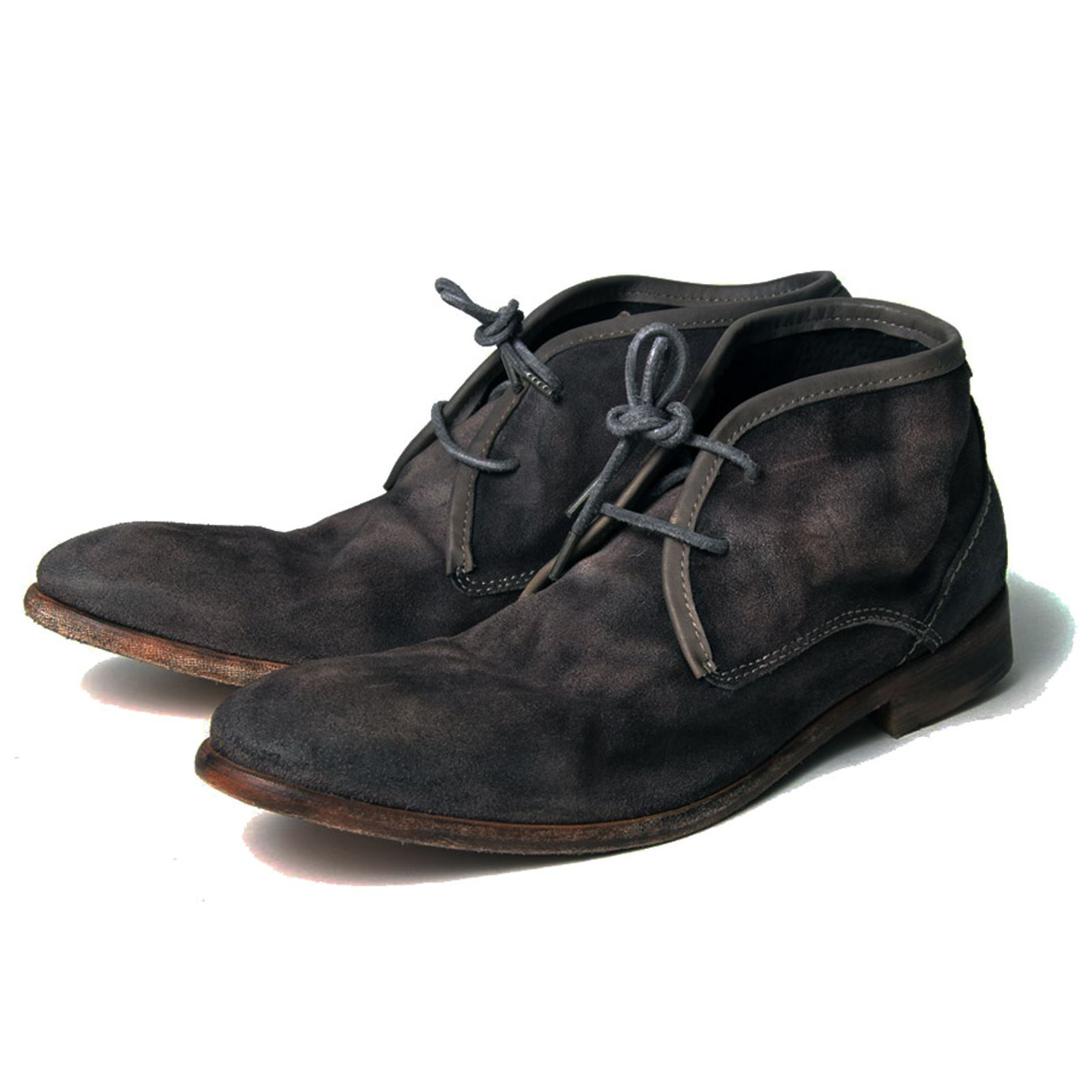 h by hudson boots cruise grey suede mens chukka boot