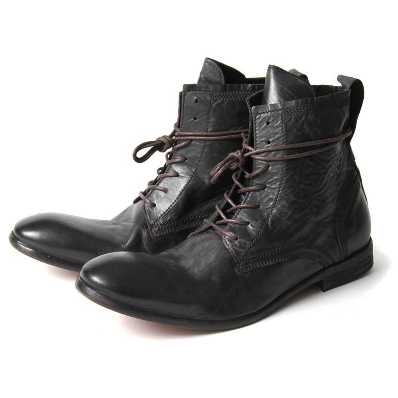 h by hudson boots swathmore black leather mens boot ebay
