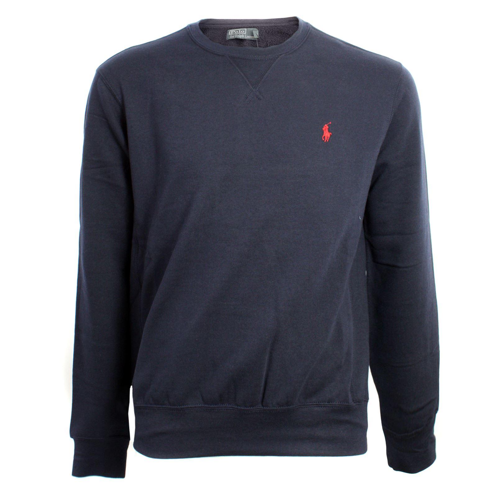 ralph lauren atlantic terry sweatshirt mens navy blue ebay. Black Bedroom Furniture Sets. Home Design Ideas