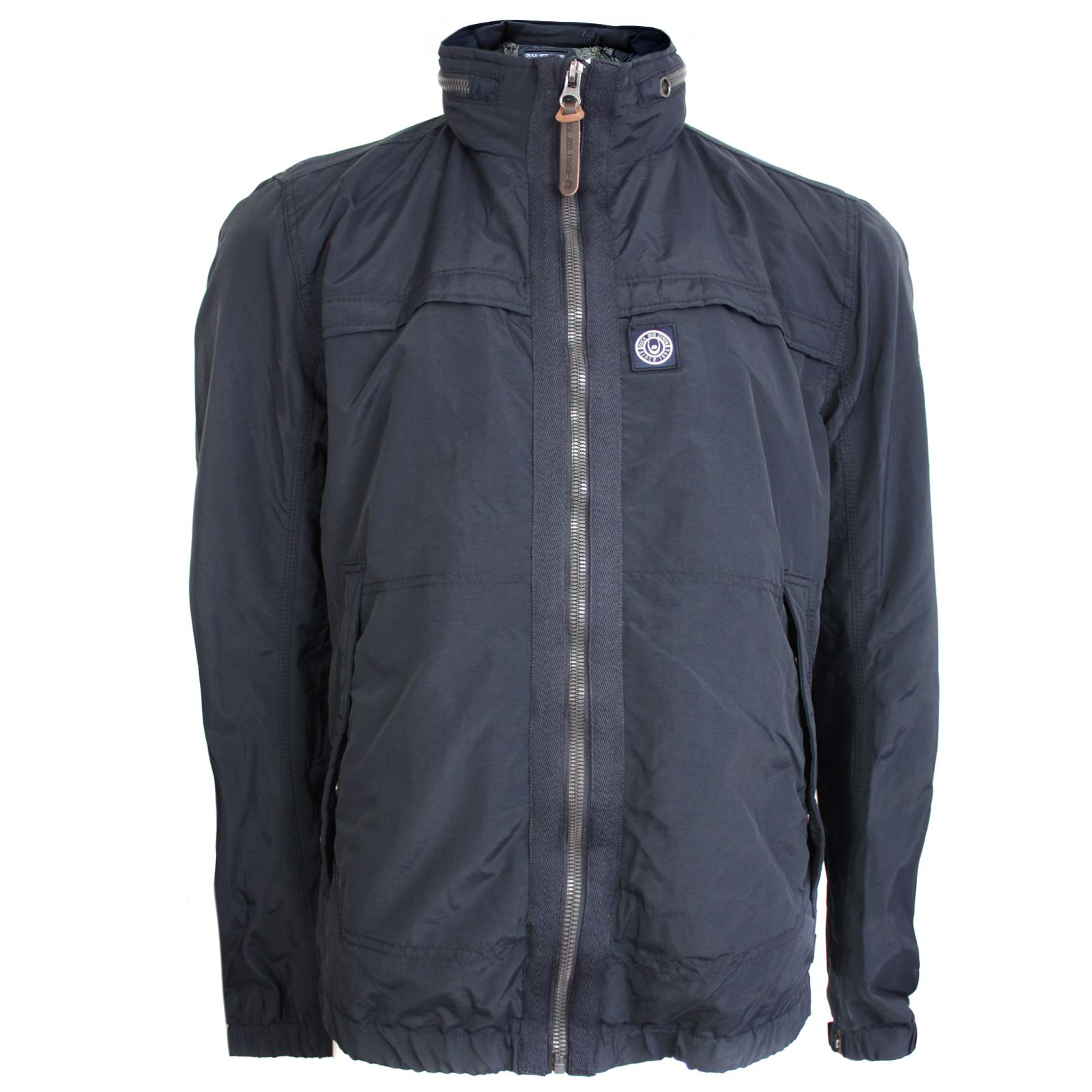 DUCK & COVER COAT ORSON V3 MENS NAVY BLUE WINDCHEATER ...