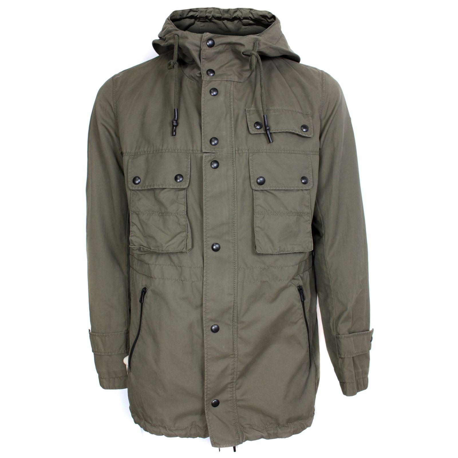 hugo boss coat orcules mens green parka jacket ebay. Black Bedroom Furniture Sets. Home Design Ideas