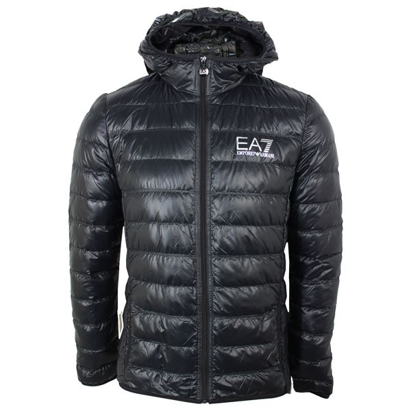 EA7 COAT MENS BLACK ARMANI DUCK DOWN FILLED BUBBLE JACKET | eBay