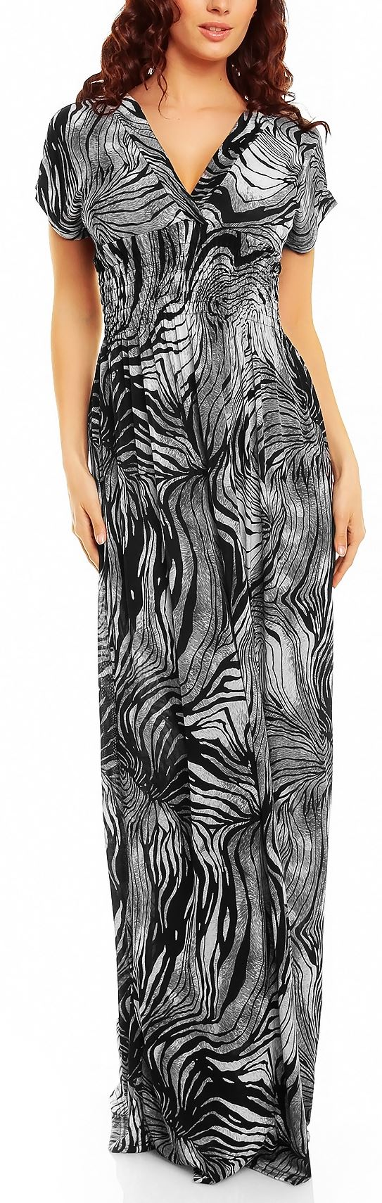 Ladies Floral Animal Print Summer Beach Casual Holiday Maxi Day Dress UK 8 - 22