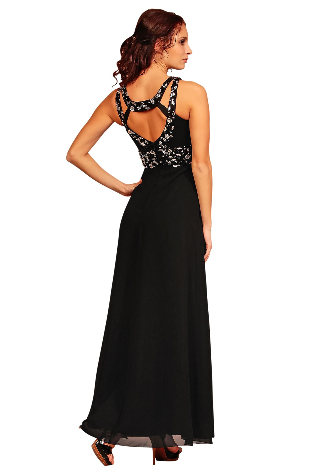 Formal Long Ball Gown Party Prom Beaded Bridesmaid Evening Dress ...