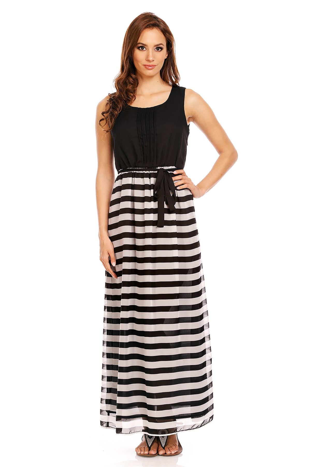 Lastest Womens Long Summer Embroidered Cross Over Dress In White - Lined