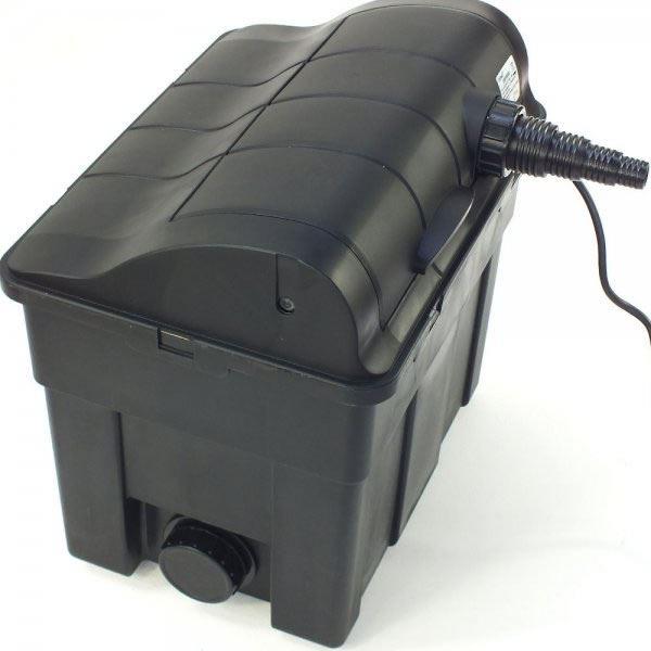 Jebao 6000 9000 pond filtration kit box filter uv pump for Pond pump filter box
