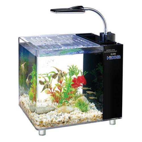 Hidom Aquarium Fish Tank 10 15 Litre Mini Office Desktop
