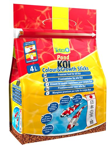 Tetra pond koi colour growth floating fish food sticks for Koi pond sticks