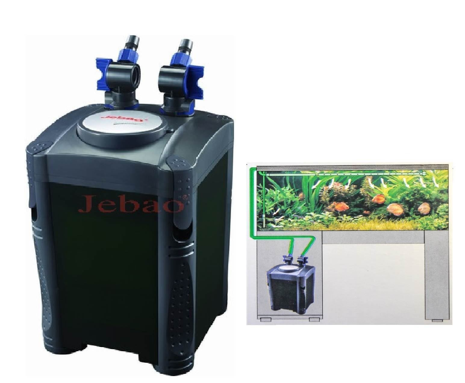 Jebao one touch aquarium canister filter external fish for Fish tank filtration