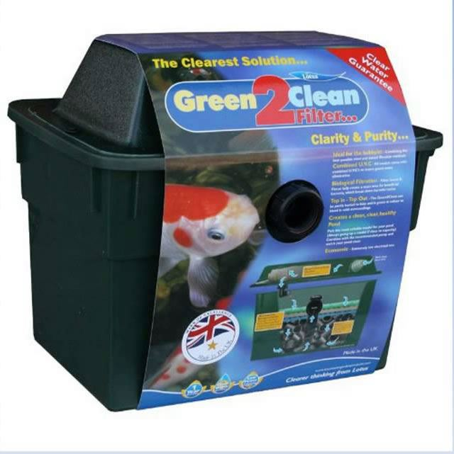 Lotus oasis green 2 clean uv bio filter koi fish ponds for Koi fish filter system