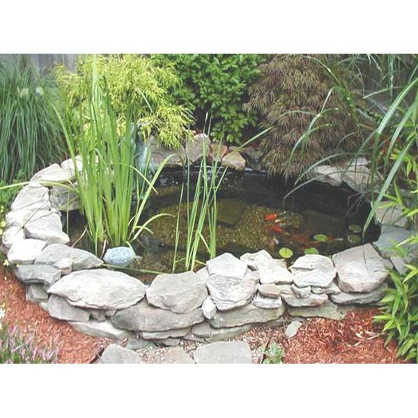Bermuda cove pre formed garden fish pond moulded plastic for Plastic garden fish ponds