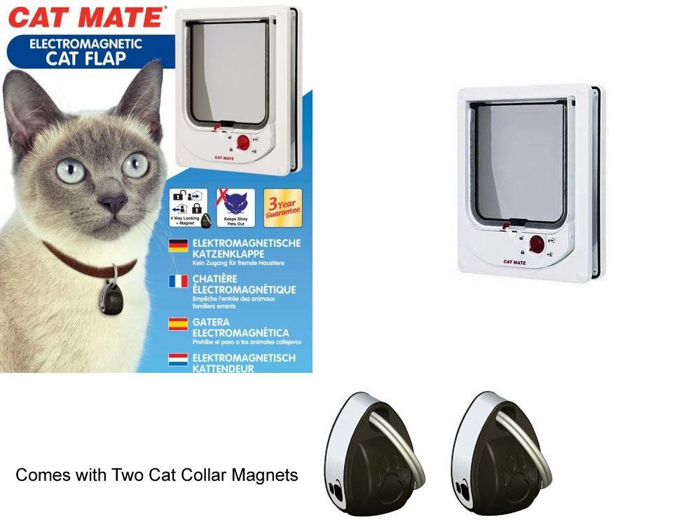 Pet Mate Cat Flap Magnetic Collar Magnet Operated Door