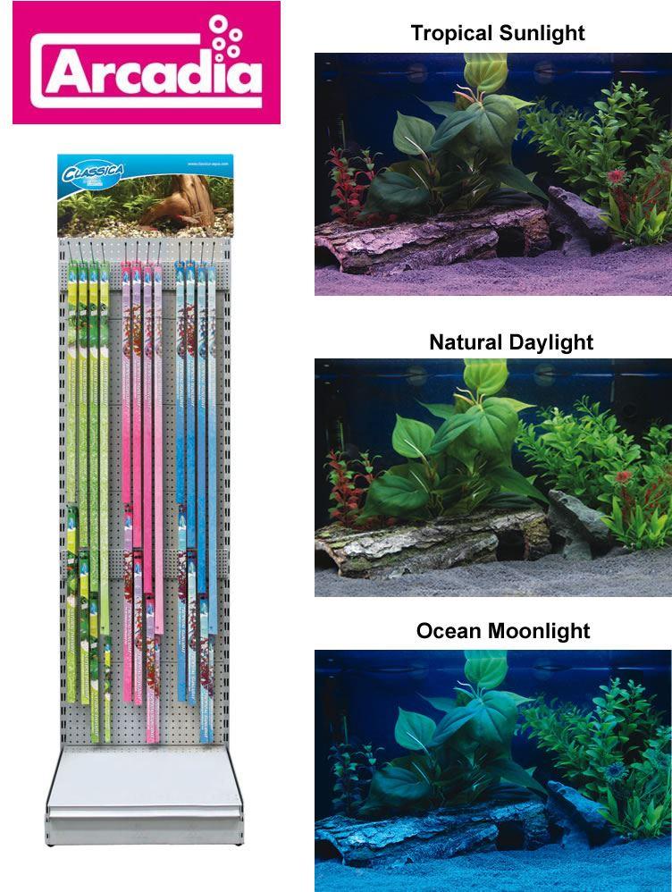 Arcadia classica aquarium light fish tank bulb tube for Tube neon aquarium