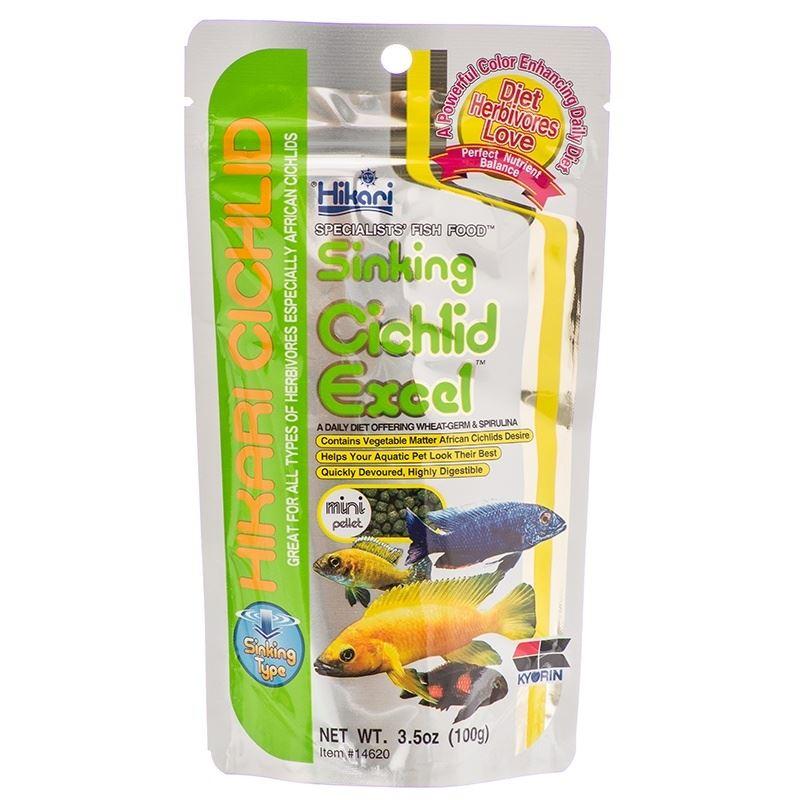 Hikari cichlid excel pellet african rift sinking for Cichlid fish food