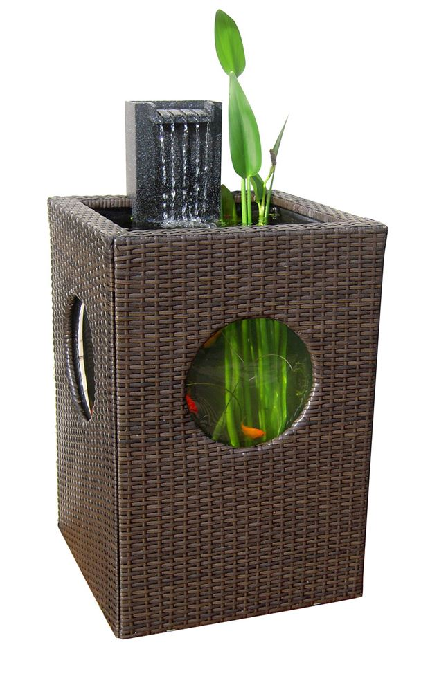 Blagdon affinity pillar patio water feature fish pond for Water feature filter