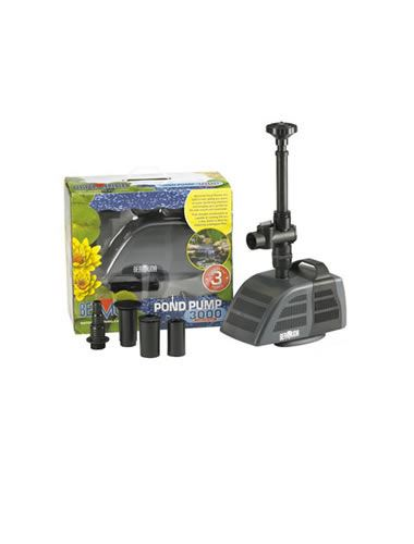 Bermuda submersible pump garden koi fish pond waterfall for Submersible pond pump and filter