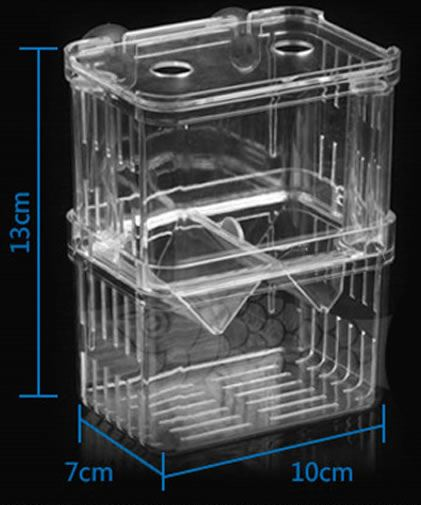 Hidom aquarium fish breeding box fry tank hatchery baby for Aquarium fish trap