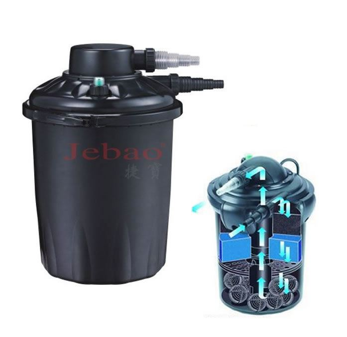 Jebao pf20e fish pond pressure filter uv 10000l 18w uv for Best pond pressure filter