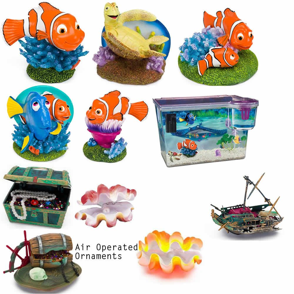Fish in nemo aquarium - Disney Finding Nemo Aquarium Fish Tank Ornament Marlin Dory Crush Shipwreck