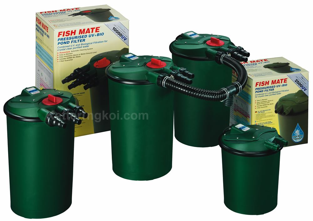 Fish mate powerclenz pressurised pond uv filter bio garden for Pond filter cleaning maintenance