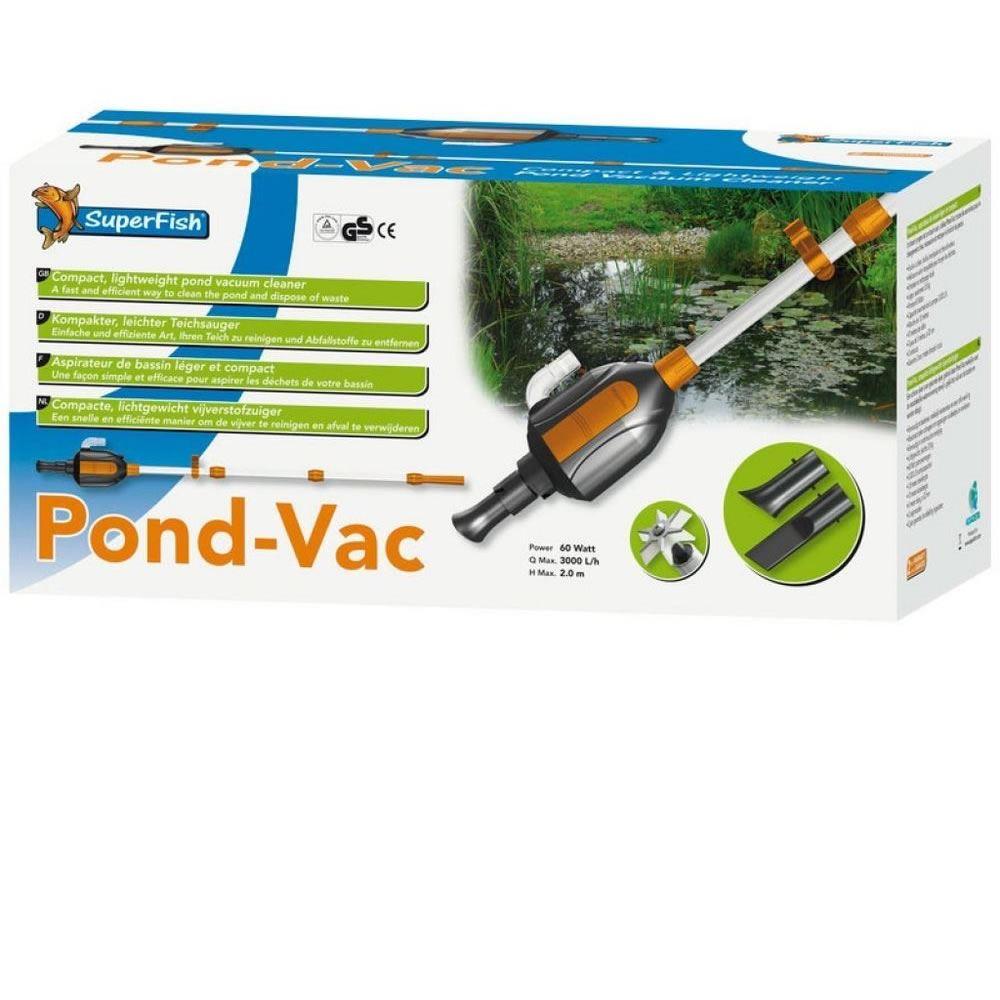 Superfish pond vac vacuum cleaner hose takes dirty water for Koi pond vacuum