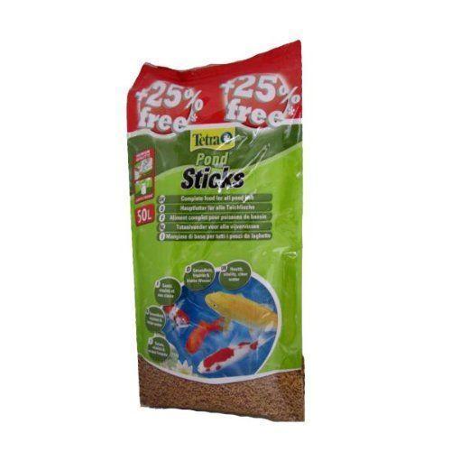 Tetra pond floating fish food sticks 4200g 40l 25 free for Koi pond sticks