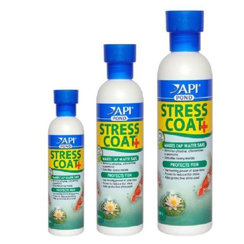 Api pond stress coat koi fish water treatment tap water for Dechlorinator for fish