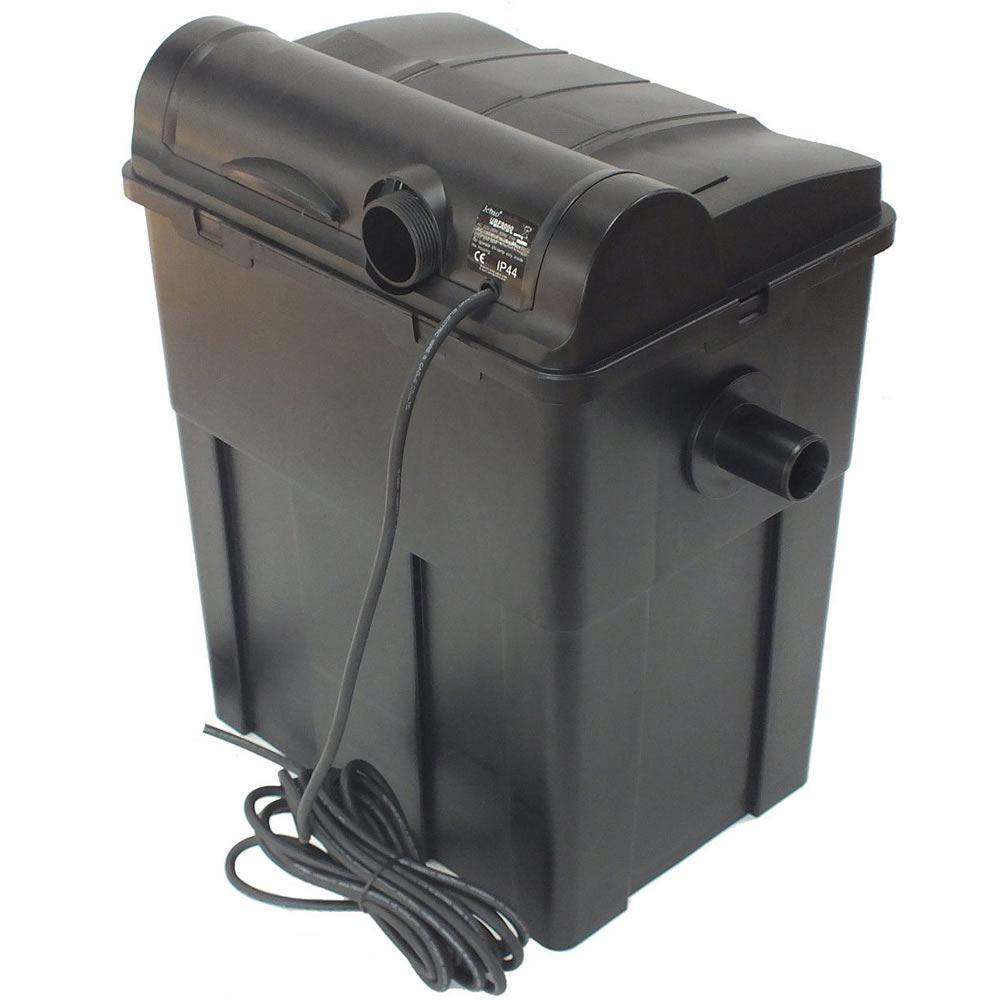 Jebao gravity box bio fish pond filter uv 6000 9000 for Koi filter set