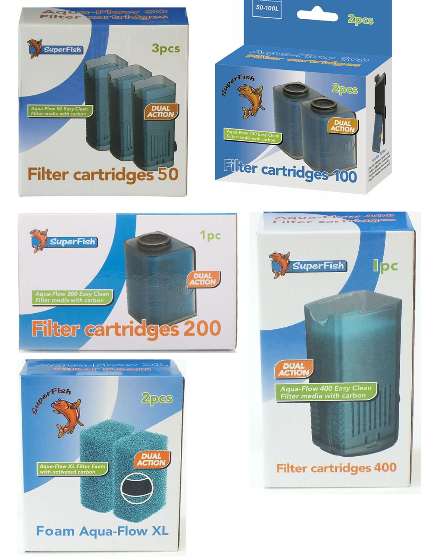 Superfish aquarium fish tank aqua 40 - Superfish Aqua Flow Aquarium Fish Filter Cartridge Sponge Foam 50 100 200 400 Xl