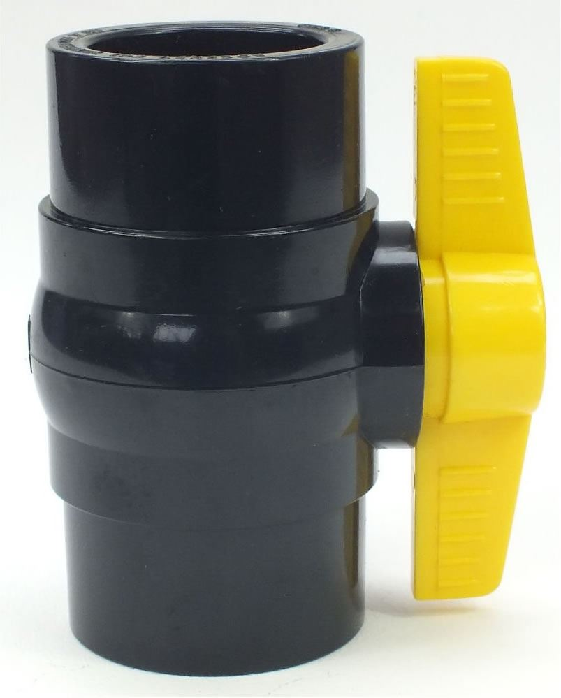 Yamitsu solvent weld ball valve control fish pond filter for Pond filter pipe