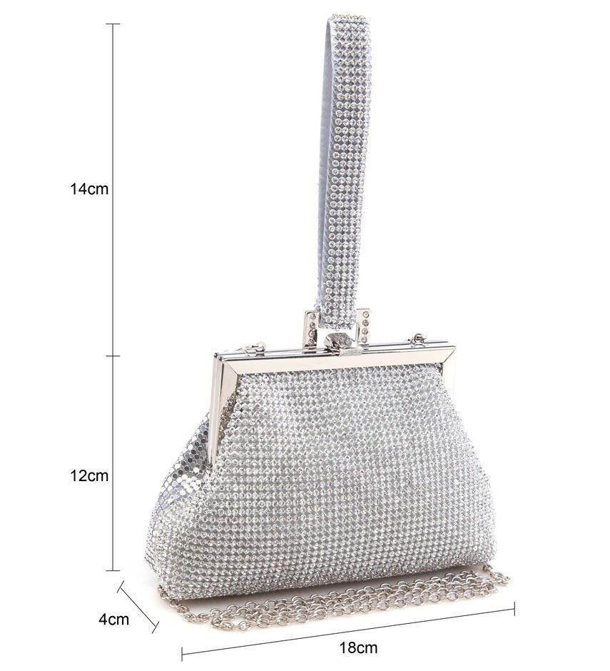 Womens Diamante Wrist Strap Party Prom Bridal Ladies Clutch Bag Purse Handbag   EBay