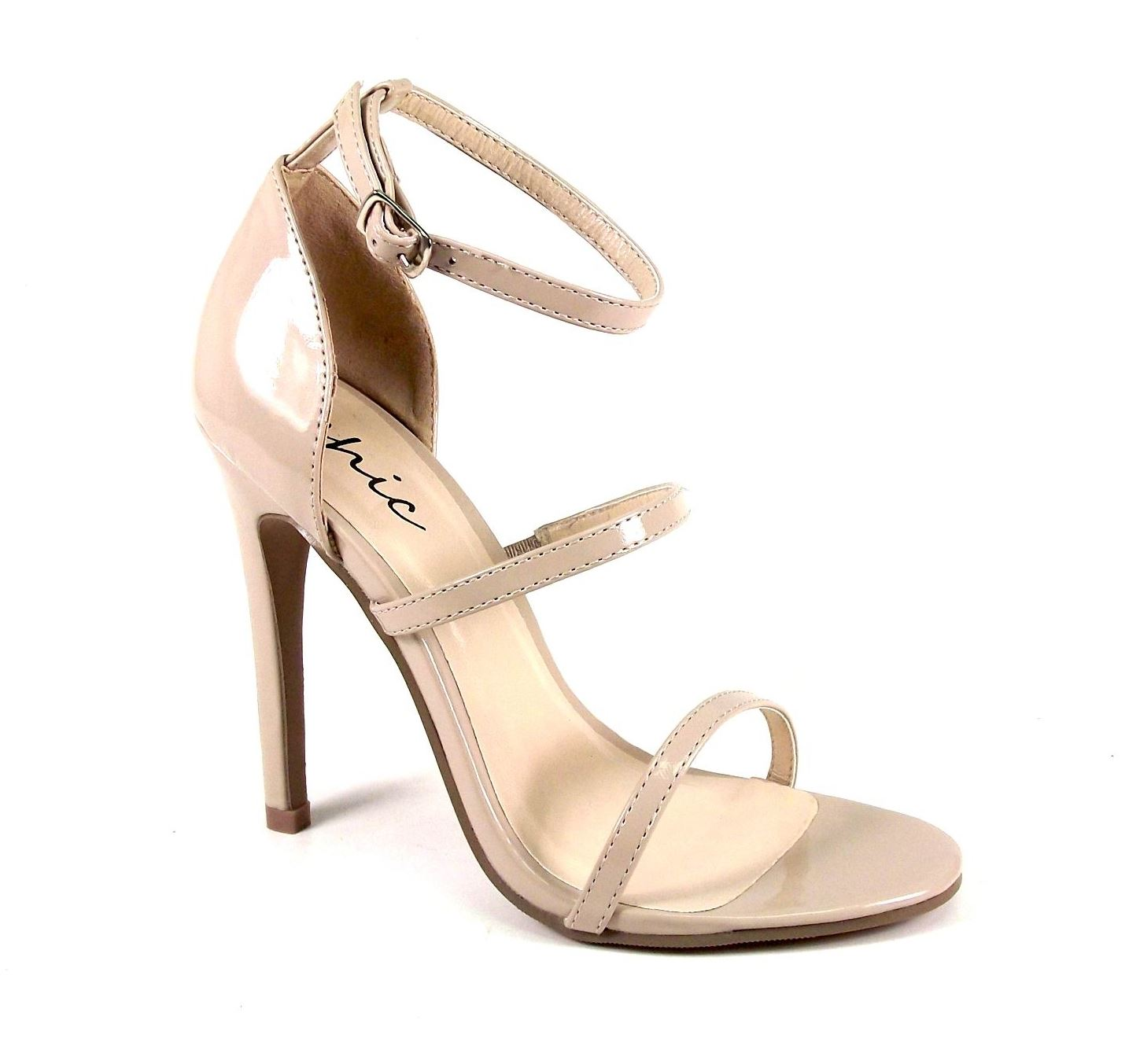 womens ankle strappy high heels stiletto party evening ladies sandals shoes size ebay. Black Bedroom Furniture Sets. Home Design Ideas