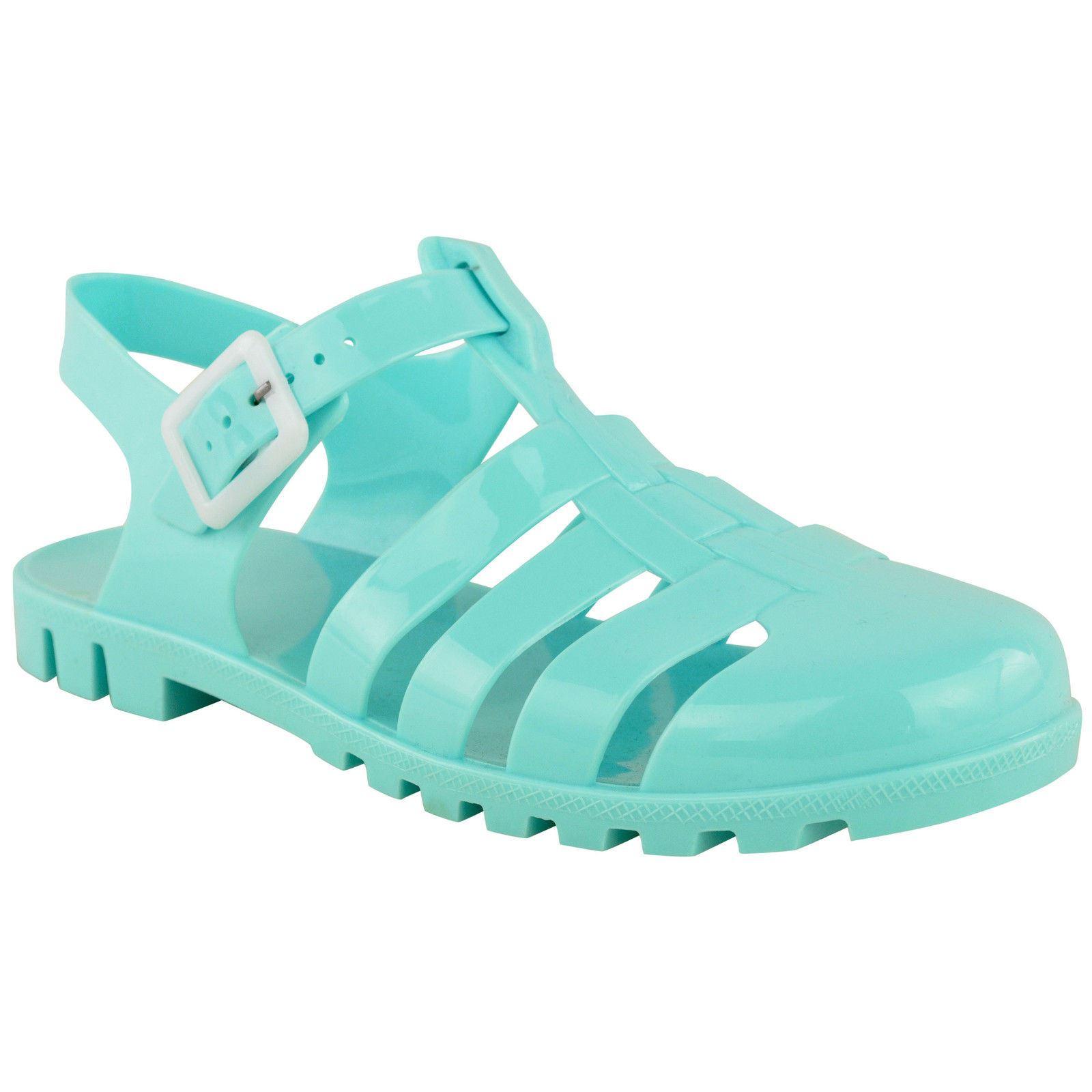 Para Mujer Retro Jelly Plana Flip Flop Ladies Girls Verano Playa Sandalias Zapatos Talla