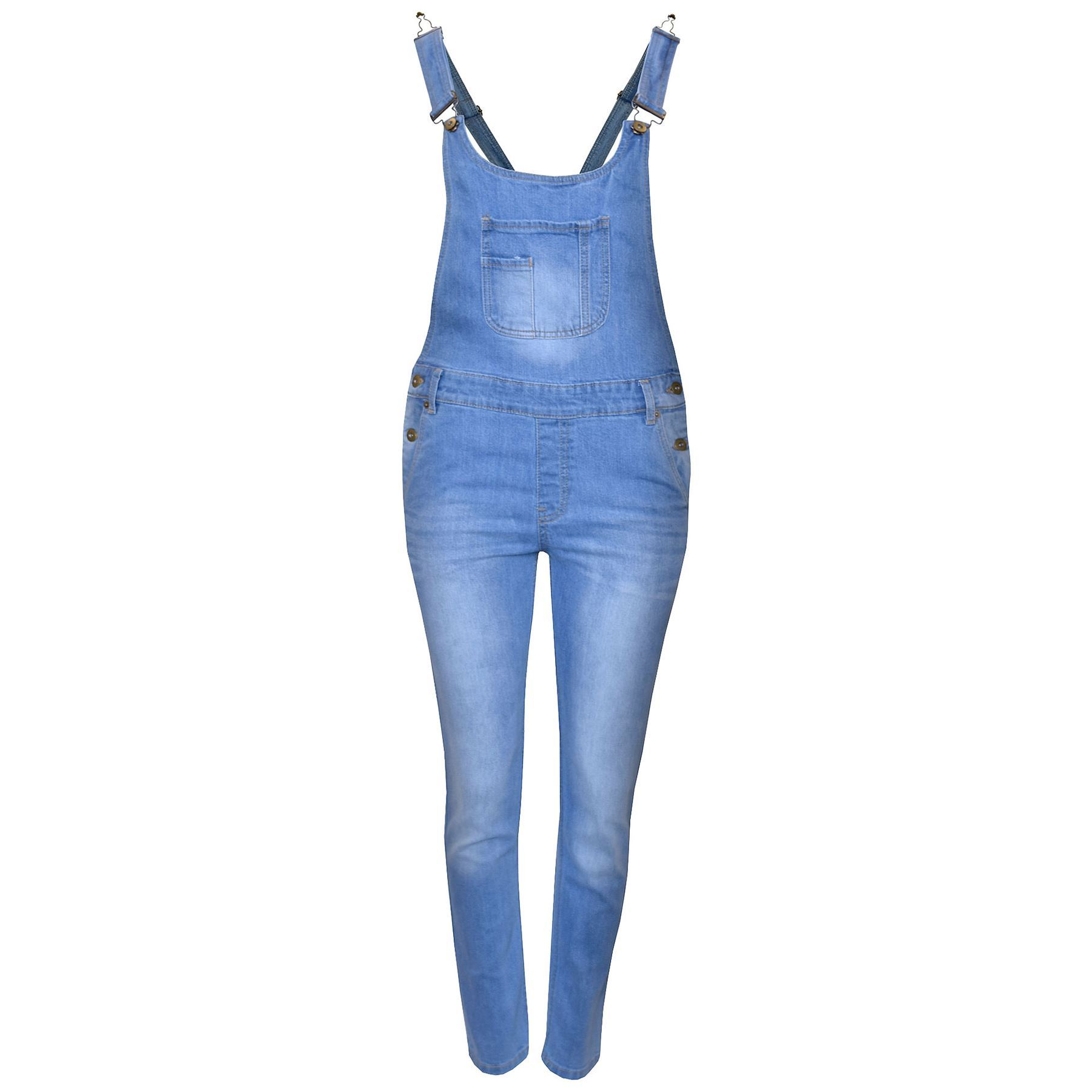 Kids Girls Denim Stretch Dungaree Jumpsuit Playsuit All In One Jeans 7-13 Years | EBay