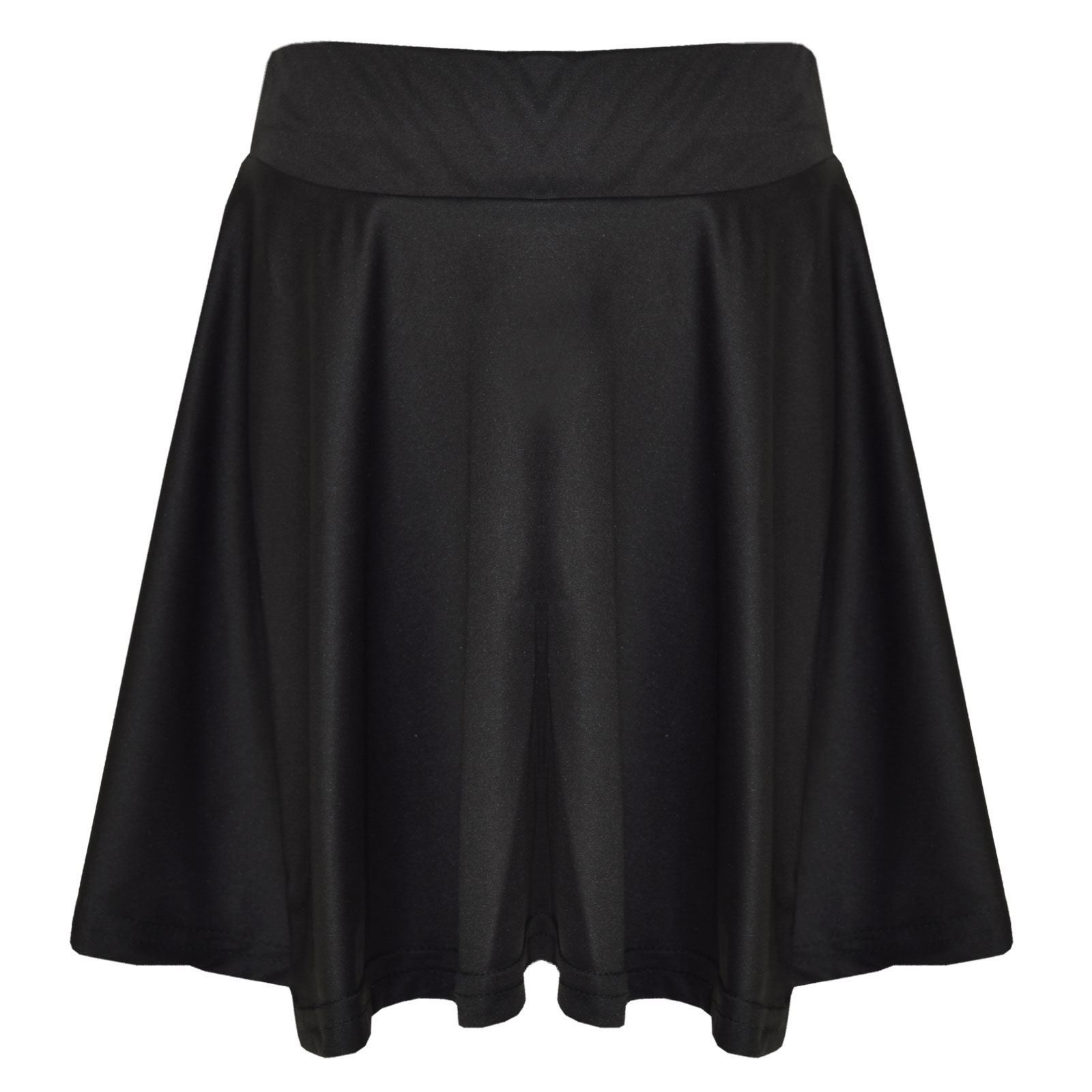 New Girls Skater Skirts School Fashion Summer Plain Skirts