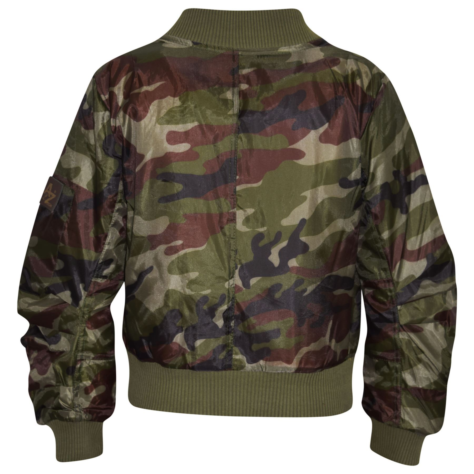 e4ce35f8e Kids Jacket Girls Boys Camouflage Bomber Padded Zip Up Biker Jacktes ...