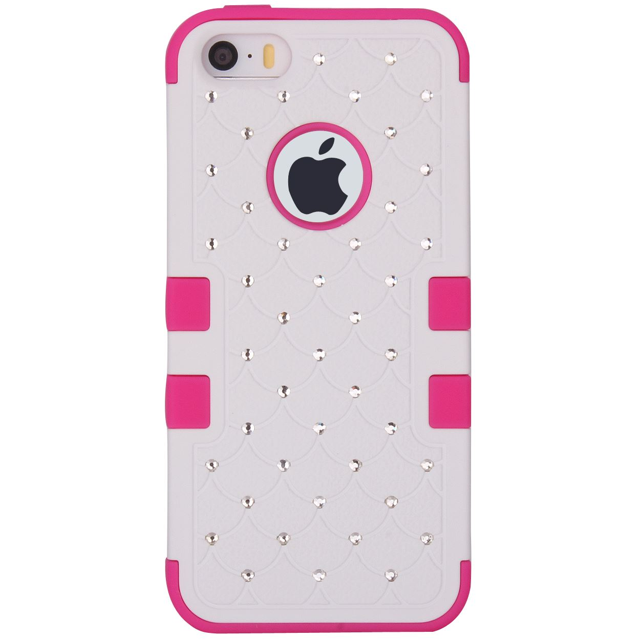 3 Layers Bling Crystals Hybrid Hard + Soft Case Cover Skin for iPhone 5 5s