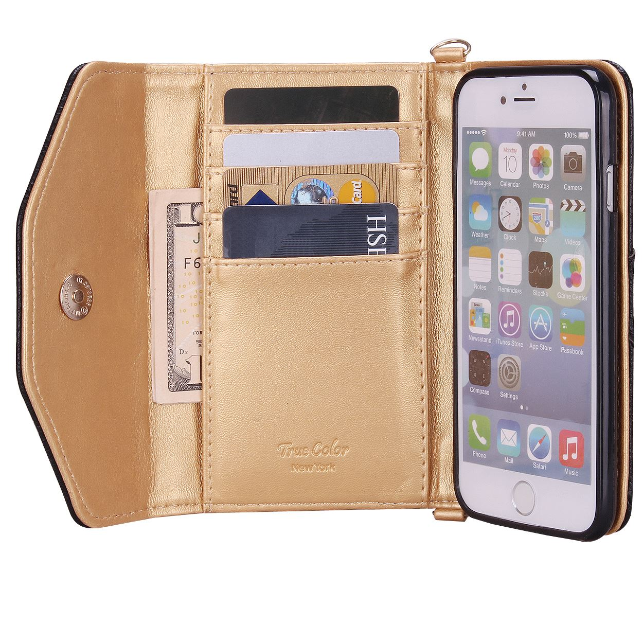 True Color® IPhone 6 Premium Wallet Wristlet Case Cover