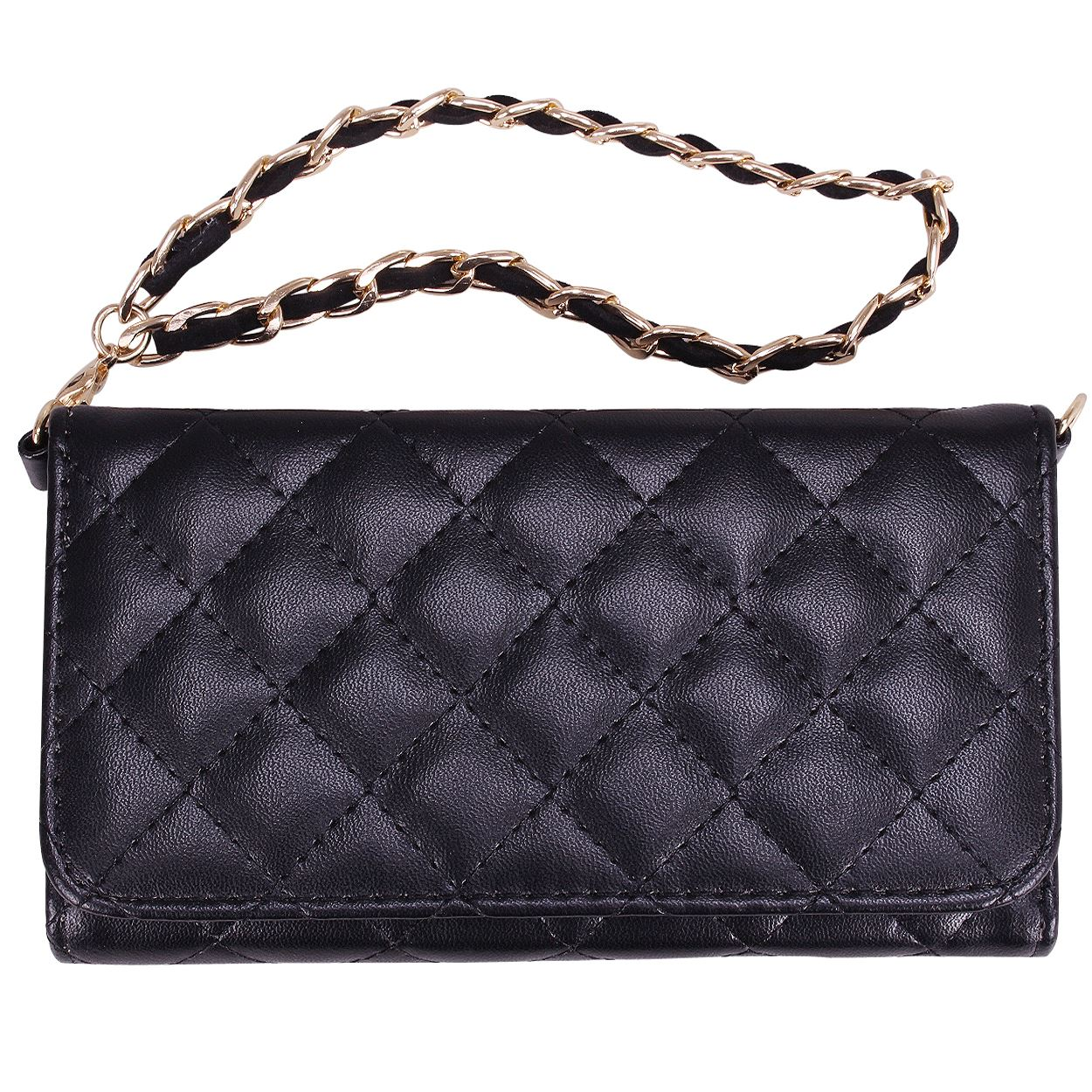 Quilted Cross Body / Wristlet Wallet Luxury Purse Style ...