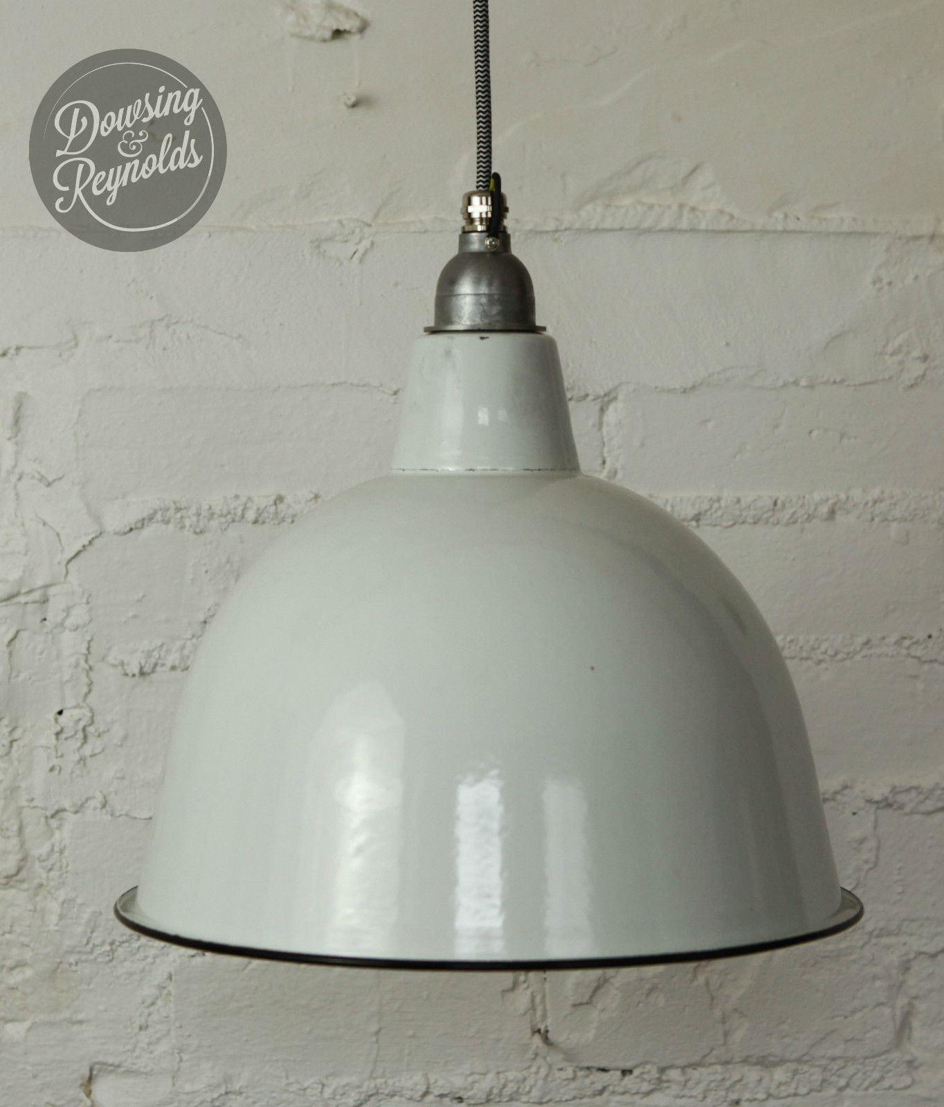 Lampada da soffitto vintage smalto industriale  bianco  con cavo di ...