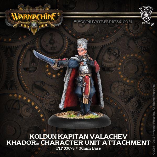 warmachine khador pip33078 koldun kapitan valachev new